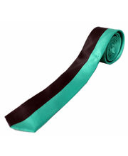 BLACKSMITHH TIES - HALF AND HALF VERTICAL STRIPES - PARROT GREEN AND BLACK