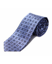 BLACKSMITHH TIES - NAVY AND SKY BLUE ALL OVER DESIGN