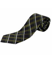 BLACKSMITHH TIES - GREEN AND BLACK ALL OVER CHECKS DESIGN
