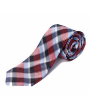 BLACKSMITHH TIES - RED AND SKY BLUE ALL OVER DIAGONAL CHECKS