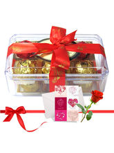 Colorful Treat Of Yummy Chocolates With Love Card ...