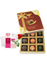 Yummy Truffles Treat With Love Card And Rose - Cho...