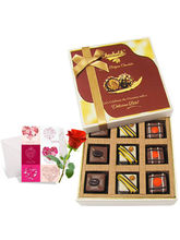 Memorable Pralines Chocolates With Love Card And R...