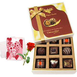 My Sweet Chocolate Collection With Love Card And R...