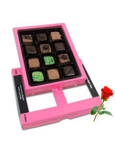 Tasty Pralines Chocolates For Love One With Red Ro...