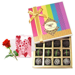 Sweet Dark Truffle Collection With Love Card And R...