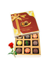 Beautiful Collection Of Chocolates With Red Rose -...