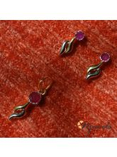 Stylish Ruby Pendant Set-PD043
