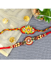 Giftacrossindia Set Of 2 Fashionable Rakhis