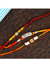Giftacrossindia Set Of Three Beads Rakhi