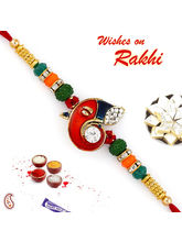 Aapno Rajasthan Multicolor Beads And AD Studded Ga...