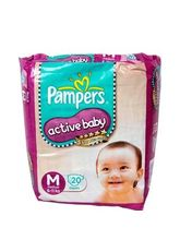 Pampers Active Baby Medium 6-11 Kg Diapers 20 Pads...