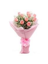 Ferns N Petals Passionate Pink - Rose Day