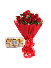 Ferns N Petals Roses N Chocolates - Rose Day