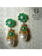 White Shell Pearl Drops, Green