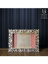 Golden Tray With 2 Sides Red Border, Red And Golde...