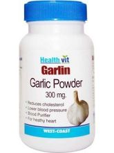 HealthVit GARLIN Garlic Powder 300 Mg 60 Capsules (Pack Of 2)