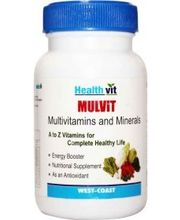 HealthVit MULVIT Multivitamins And Minerals Tablets (Pack Of 2)