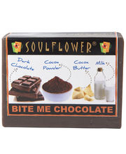 Soulflower Bite Me Chocolate 100% Veg Soap - 150 Gms