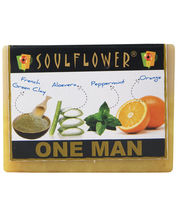 Soulflower One Man Soap 100% Vegan Soap - 150 Gms