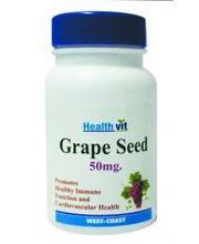 HealthVit Grape Seed 50mg 60 Capsules Buy 1 Get 1 Free