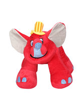 Tubbby Floppy Animal Toy, Red
