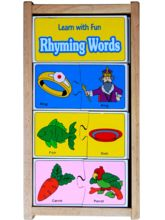Little Genius Wooden Rhyming Word (Learn With Fun)...